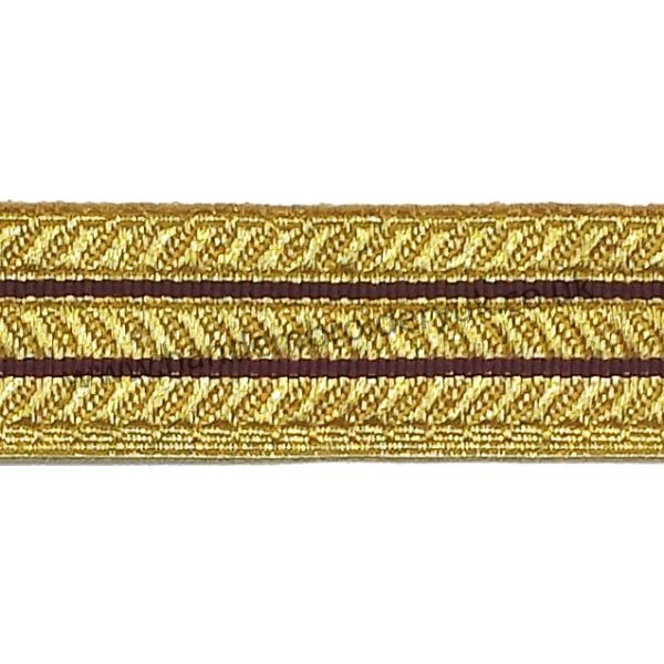 20 MM INFANTRY SLING BURGUNDY LACE GOLD RED MYLAR BRAID LACE