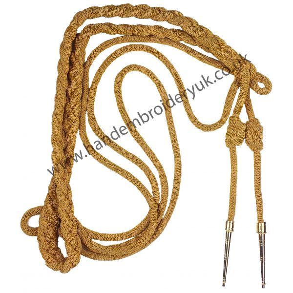 French wire Aiguillette with Gold plated tips Specially for Air Force