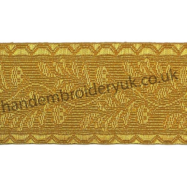 Oak Leaf Gold Mylar Braid Lace for Army, Military, Uniform, Costume, Fancy Dresses