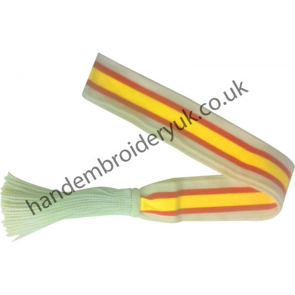 Shoulder Sash in Red and Yellow