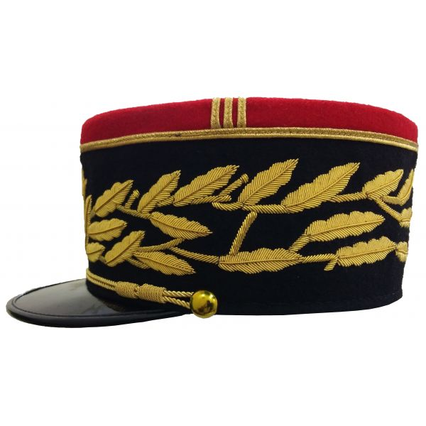 French Military Kepi, France Army Embroidery Peak Hat
