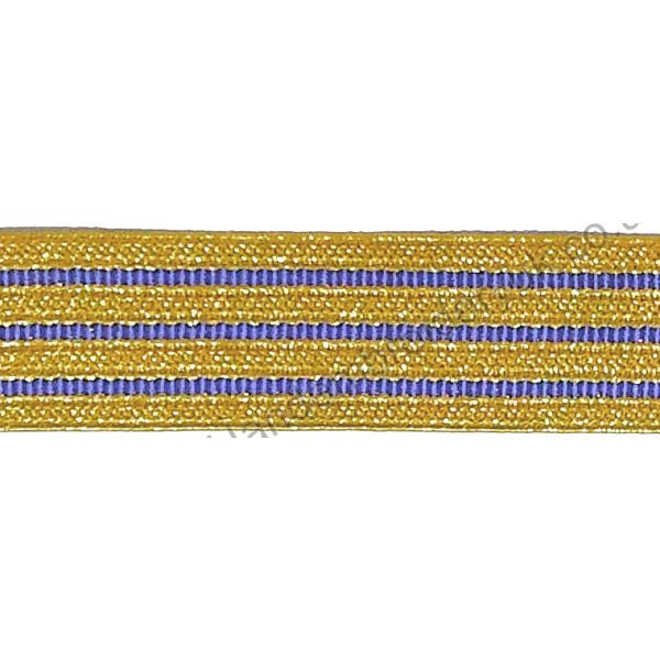 Gold Blue Braid 20 mm for Army, Military, Uniform, Costume, Fancy Dresses