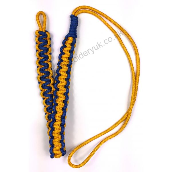 Officers Whistle Lanyard Cord in Blue and Golden