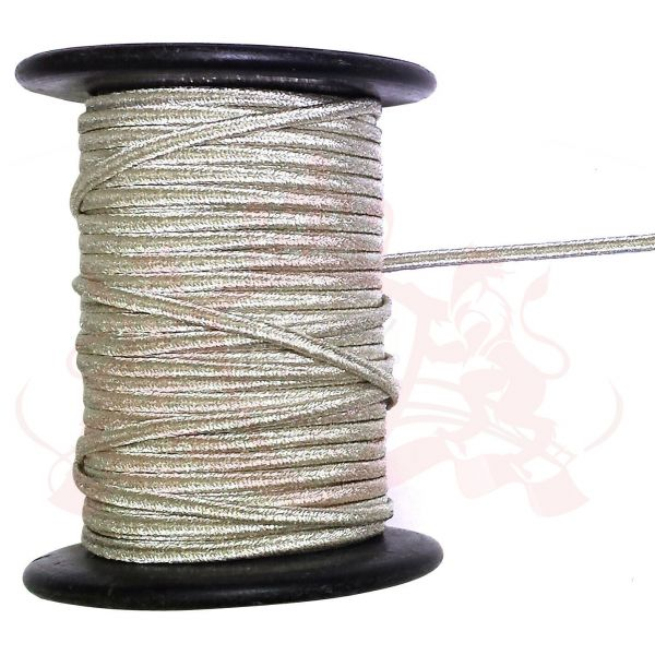 Silver Russia Braid 3.5mm Rank Russian Lace for Military, Uniform, Costume