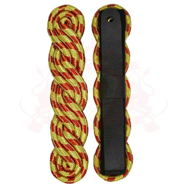 Shoulder Board, Gold Red Twisted Cord Rank Board