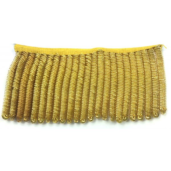 Gold Gilt Bullion Spiral Fringe
