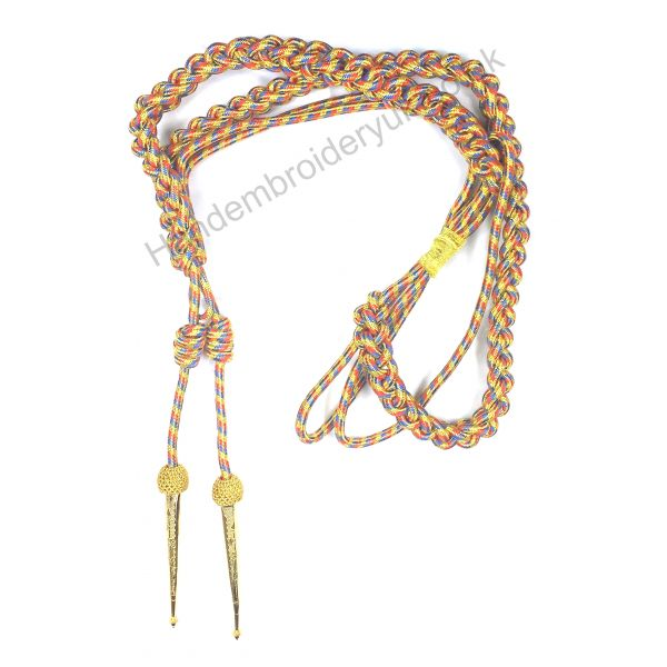 Aiguillette Gold Red Blue for Army Air Force Navy
