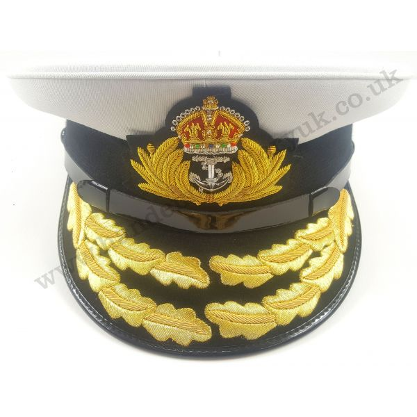 ROYAL NAVY ADMIRALS CAP, NAVAL PEAK CAP, R N COMMANDERS FLAG CAP