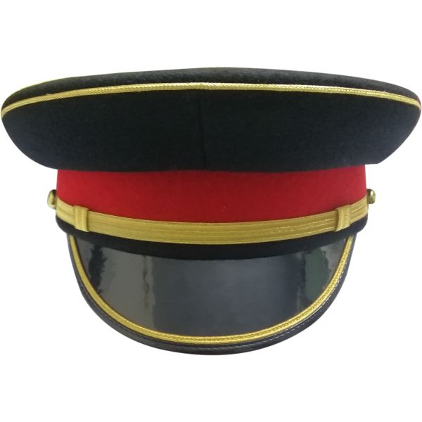 SCOTTISH OFFICER PEAK CAP, NAVY BLACK MILITARY HAT
