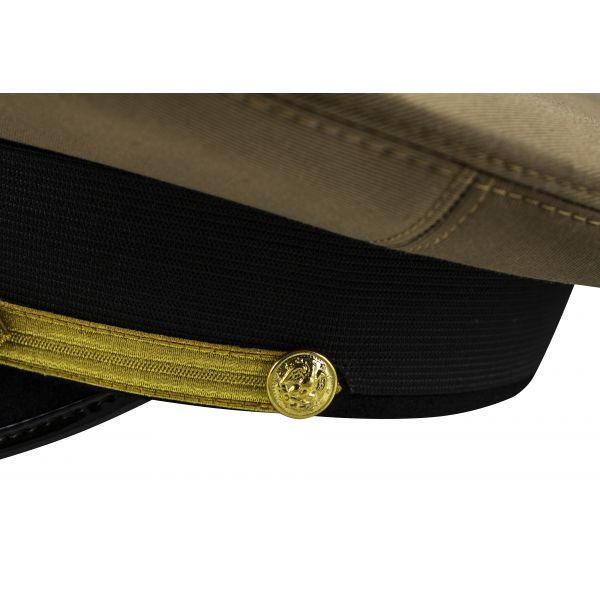 US Navy Admirals Hat, United States Khaki Cap with Double Scrambled Eggs