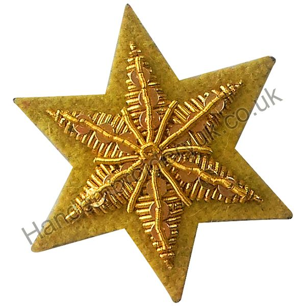 Shoulder, Arm or Cap Rank Badge - Star Yellow Blazer Badge