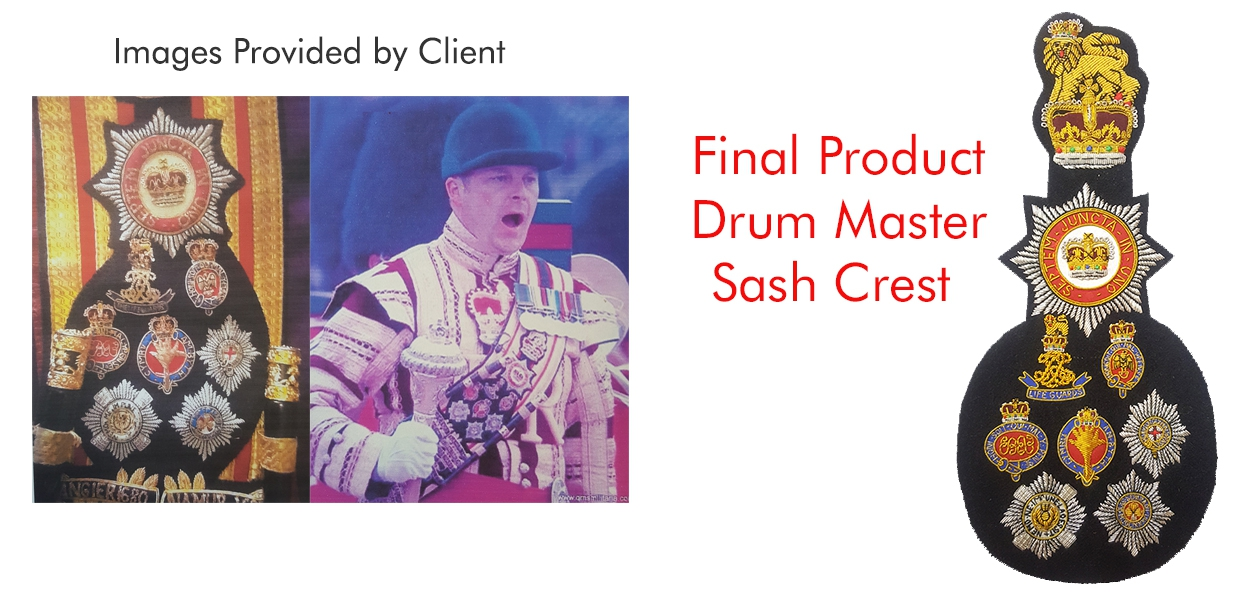 Drum Master Sash Crest