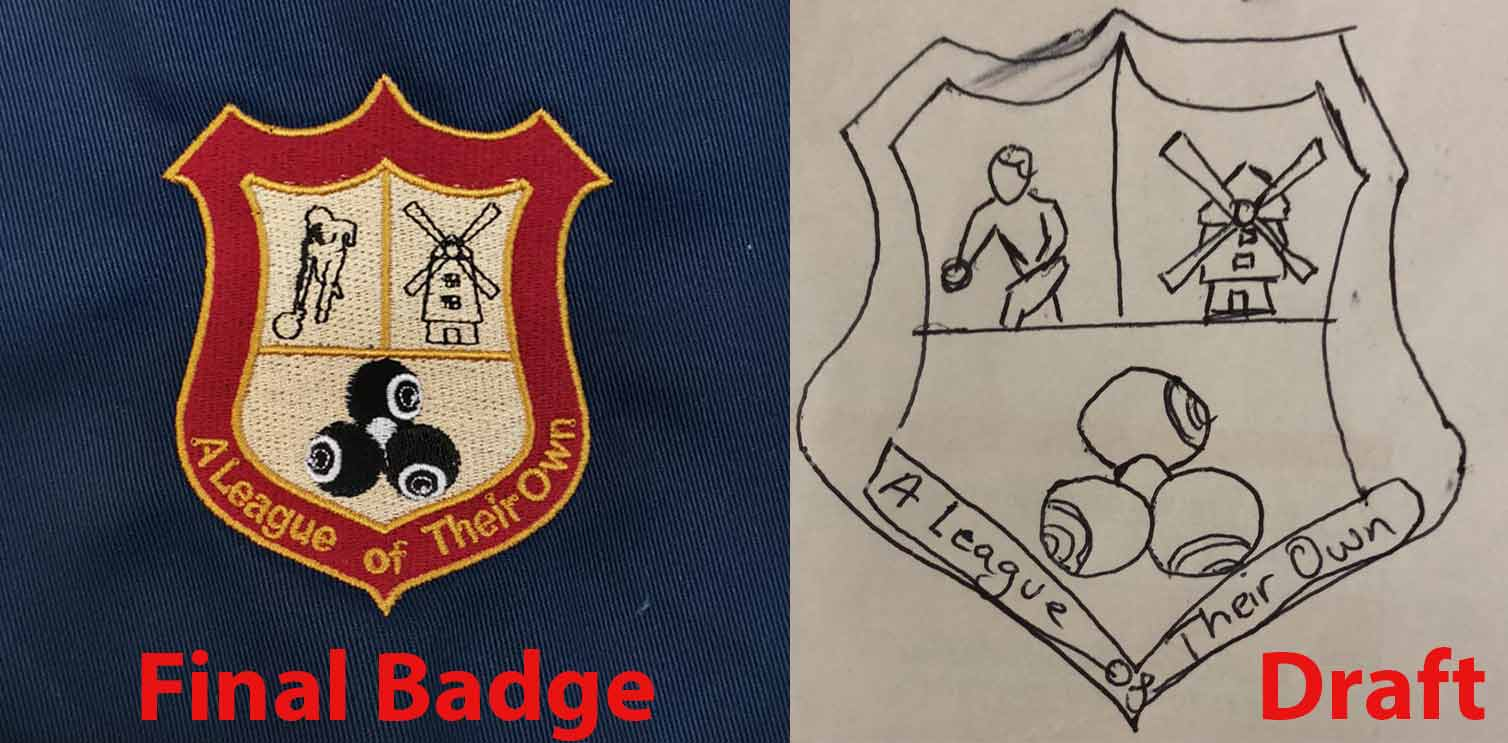 machine embroidered badge